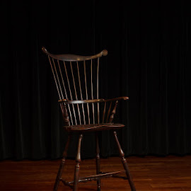 Storytelling Chair by Jay Huron - Artistic Objects Furniture ( chair, wooden, floor, stage, spotlight, Chair, Chairs, Sitting )