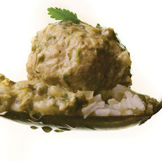 Lamb Meatballs in Green Curry Sauce