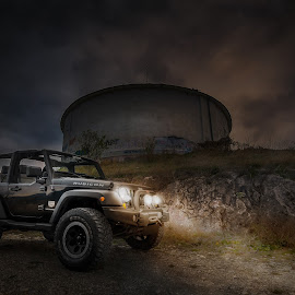 Black Rubicon by Gabi Rusu - Transportation Automobiles ( car, automotive, 4x4, jeep, automobile, wrangler, auto, black, rubicon )