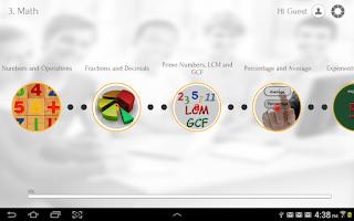 Screenshot of Learn Math via Videos