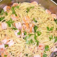 Shrimp Linguine With Basil-Garlic Butter