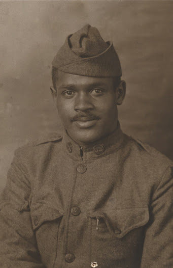Sergeant Vernon Coffey, of Kansas City, Missouri, joined the 806th Pioneer Infantry at Fort Riley (Camp Funston), Kansas.  He received overseas clothes and weapons at Camp Mills, New York where he shipped out for France.  After attending gas school at Langras, France, he served at ammunition dumps at Flury and Lima.  Coffey would return to his home after the war.  Coffey finished, as he related, his law studies and became an attorney and a preacher, later, at the First African Methodist Episcopal Church in Kansas City, Kansas.