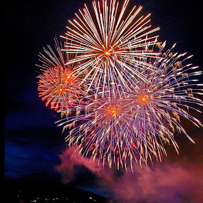 July 14 from us! by Joseph Muller - Public Holidays July 4th ( fireworks, city, night,  )
