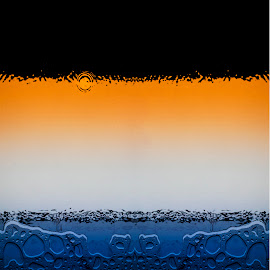 Elements by David Stone - Digital Art Abstract ( water, orange, blue, colors, digital art, glass, water bubbles, enhanced, photoshop )