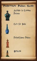 Screenshot of Pottermore Potions Guide