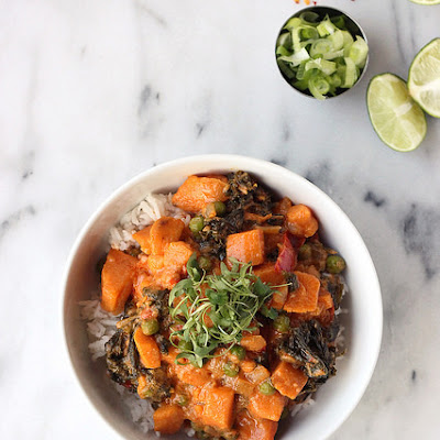 30-minute Sweet Potato and Kale Coconut Curry