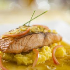 Salmon with Leek from 'Be Our Guest Restaurant', at Walt Disney World Florida
