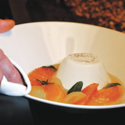 Chamomile Panna Cotta and Citrus Soup
