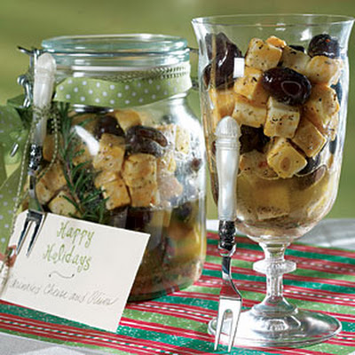 Marinated Cheese and Olives