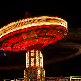You Spin My Head Right Round by Duncan Song Hui - City,  Street & Park  City Parks ( funfair, handheld, spin, longexposure, light )