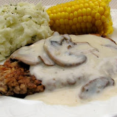 Chicken Fried Steak With Mushroom Gravy