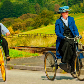 Beamish #15 by Robert Wake - Transportation Bicycles ( transportation, people, bicycle,  )