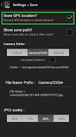 Screenshot of Camera ZOOM FX Geotagger