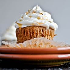 Sweet Potato Pie Cupcakes with Marshmallow Frosting