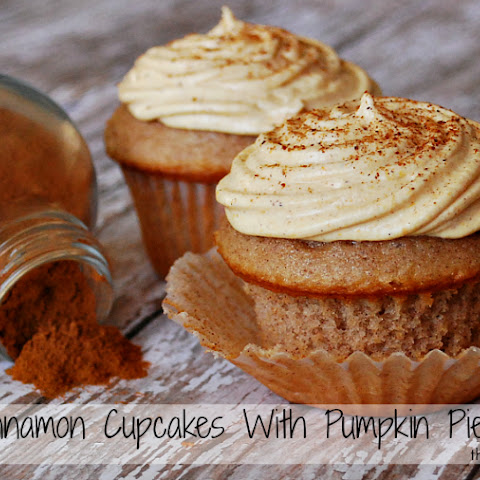 Cinnamon Cupcakes With Pumpkin Pie Frosting