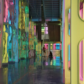 In The Rainbow by Victor Mirontschuk - Buildings & Architecture Other Interior ( montreal, interior, canada, places, travel, architecture,  )