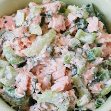Leftover Salmon Salad Recipe with Yogurt and Dill
