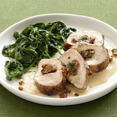 Fruitcake-Stuffed Pork Medallions