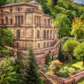 Villa Lobstein by Ole Steffensen - Buildings & Architecture Homes ( villa lobstein, albert schweitzer, heidelberg castle, heidelberg, students home, richard strauss, germany )
