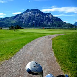 Beautiful Course by Linda Doerr - Sports & Fitness Golf ( golf course, mountain, waterton, club, scenic,  )