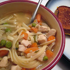 Low Fat Chicken Noodle Soup for 2
