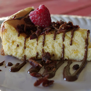 Pumpkin Cheesecake with Chocolate and Bacon