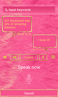 Screenshot of GO KEYBOARD LUXURY PINK THEME