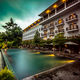 Swim by SooSing Goh - Landscapes Travel ( pool, indonesia, hotel, padma, bandung, swimming )