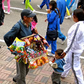 Street Vendor in Bogota, Colombia by Tyrell Heaton - City,  Street & Park  Street Scenes (  )
