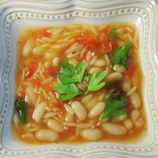 Chicken Soup With Pasta and White Beans