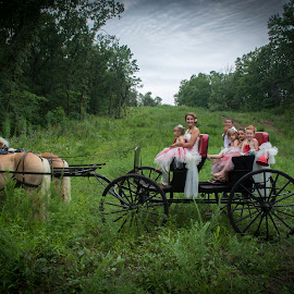 Tranquil Ride by Kelly Thompson Edwards - Wedding Other ( buggy, wedding, horse, bride, flower girls )