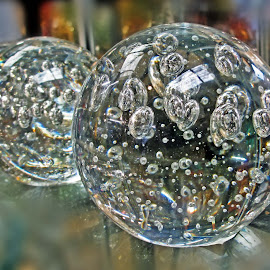 Clear glass paperweights by Michael Moore - Artistic Objects Glass