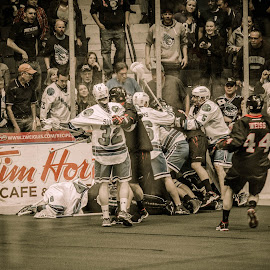 Street Fight by Enrique Santana Carballo - Sports & Fitness Lacrosse ( sports, game, vancouver, lacrosse, rochester )