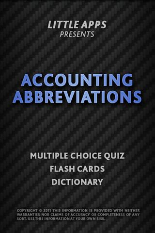 ACCOUNTING ABBREVIATIONS