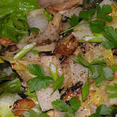 Warm Endive And Oyster Mushroom Salad