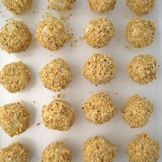 White Chocolate and Grapefruit Truffles with Hazelnuts