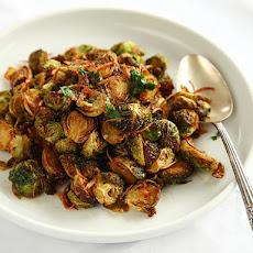 Fried Brussels Sprouts with Shallots, and Chilies