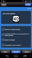 Screenshot of EXAMEN DE MANEJO DMV EE.UU.