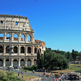 Roman Postcard by Natalie Woodhead - Buildings & Architecture Statues & Monuments ( ancient, rome, architecture, travel, italy,  )