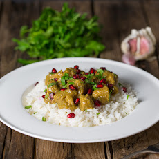 Persian Chicken with Pomegranate Jewels