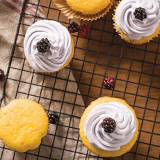Vanilla Cream Cheese Cupcakes With Black Raspberry Buttercream From 'Fruitful'