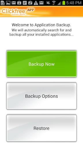 Clickfree Application Backup