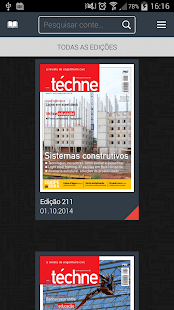 Revista Téchne - screenshot