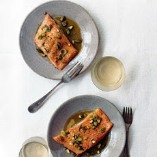 Arctic Char with Pistachio Orange Vinaigrette