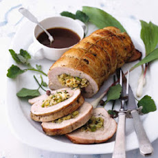 Turkey Breast Stuffed with Matzo and Fennel