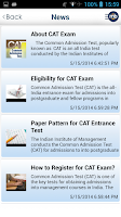 Screenshot of CAT / MAT / XAT MBA Exam Prep