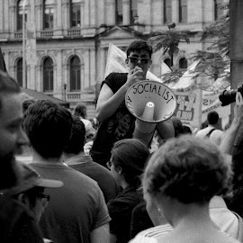 Socialist by Andrew Rock - News & Events Politics ( film, canon eos 30, on flickr, protest, kentmere 400,  )