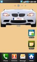 Screenshot of BMW M3 battery widget
