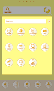 Banana dodol launcher theme - screenshot