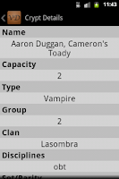 Screenshot of VampiDroid Cards Reference